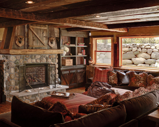 Unique living room rustic design home design picture for Rustic living room ideas